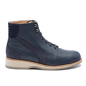 038 Navy grain leather