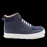 042 Navy grain leather