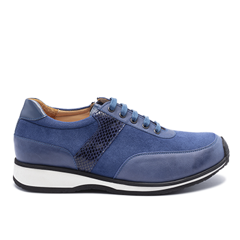 059 Blue leather