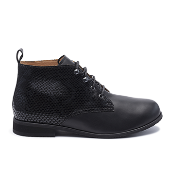 065 Black fantasy leather