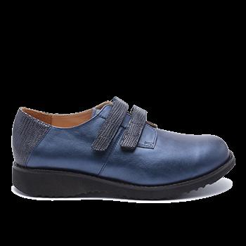 092 Navy shinny leather