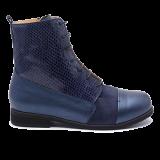 095 Navy shinny leather