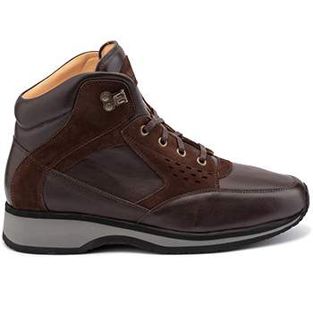 Perry - L1674/X864/N1604 leather dark brown combi