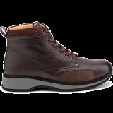 E20203/X1874 grain leather dark brown combi