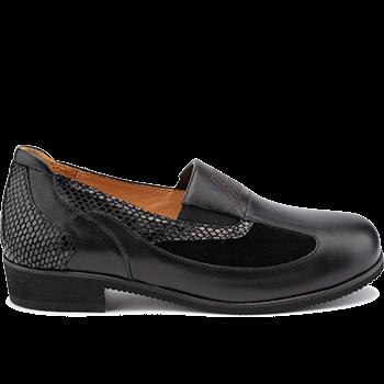 Michelle - L1602/X872 fantasy leather black combi