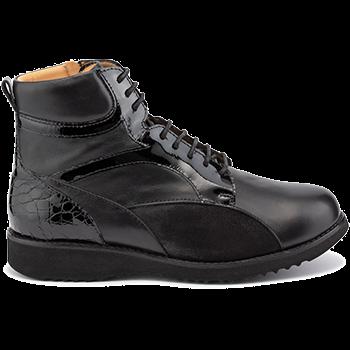 Martha - L1602/X860 fantasy leather black combi