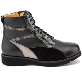 L1602/X872 fantasy leather black/grey combi