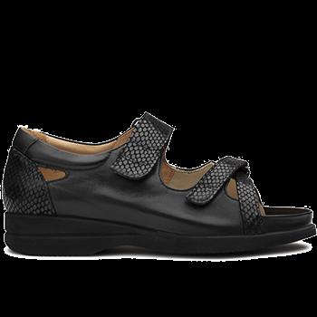 Theresa - L1602/S1662 fantasy leather black combi