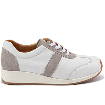 Dionisia - L1601/X1851 leather white/grey combi