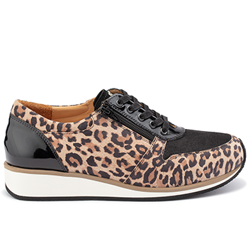 Debbie - Y1874/X860 leopard leather black combi