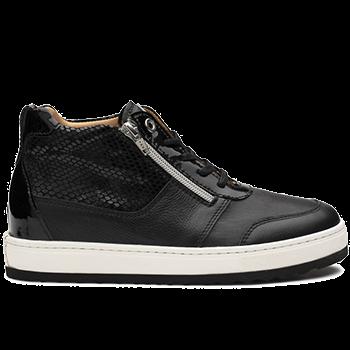 Jacqueline - L1672/X852 fantasy leather black combi